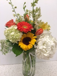 Hobnail Happiness from Roses and More Florist in Dallas, TX
