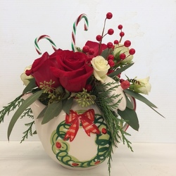 Lovely Wreath Teapot from Roses and More Florist in Dallas, TX