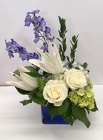 Rhapsody in Blue from Roses and More Florist in Dallas, TX