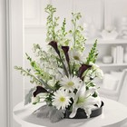 Black & White Style from Roses and More Florist in Dallas, TX