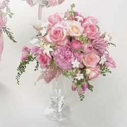 Pink Rose, Stephanotis & Hyacinth Bouquet from Roses and More Florist in Dallas, TX