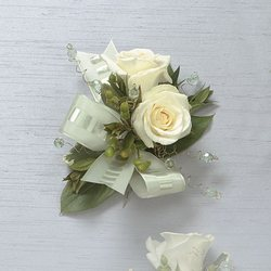 White Rose Corsage from Roses and More Florist in Dallas, TX