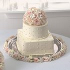 Blossoms of Love Cake Top from Roses and More Florist in Dallas, TX
