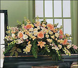 Peach Comfort Half-Couch from Roses and More Florist in Dallas, TX