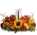 Delight-fall Centerpiece from Roses and More Florist in Dallas, TX