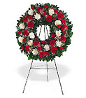 Hope and Honor Wreath from Roses and More Florist in Dallas, TX
