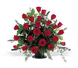 Blooming Red Roses Basket from Roses and More Florist in Dallas, TX