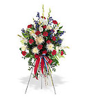Patriotic Spirit Spray from Roses and More Florist in Dallas, TX