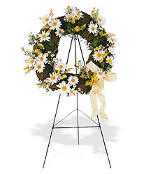 Drop of Sunshine Wreath from Roses and More Florist in Dallas, TX