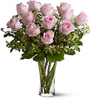 A Dozen Pink Roses from Roses and More Florist in Dallas, TX