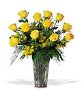 A Dozen Yellow Roses from Roses and More Florist in Dallas, TX